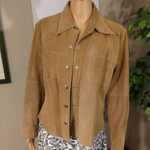 Jou Jou Tan Leather Jacket
